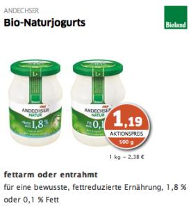 Bio Naturjogurts